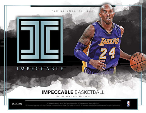 2017-18 Panini Impeccable Basketball 3-Box Case