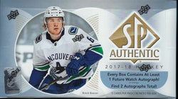 2017-18 Upper Deck SP Authentic Hockey Box
