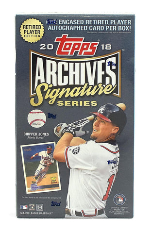 2018 Topps Archives Signature Retired Player Baseball  Case