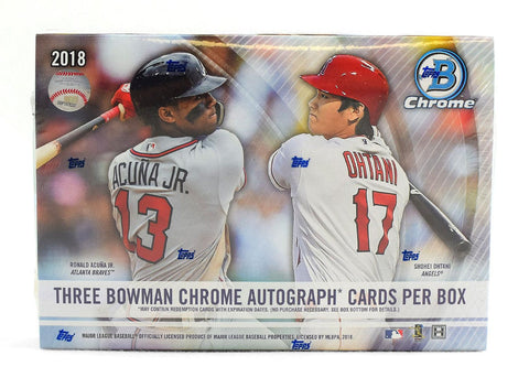 2018 Bowman Chrome Baseball HTA Case