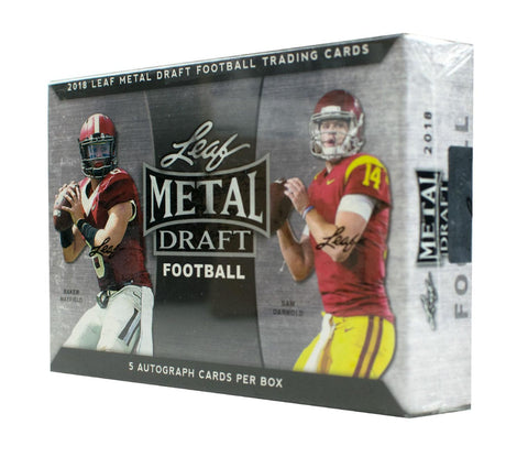 2018 Leaf Metal Draft Football Box