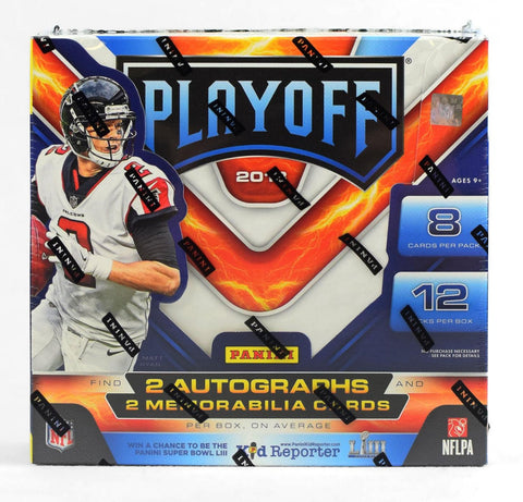 2018 Panini Playoff Football Box
