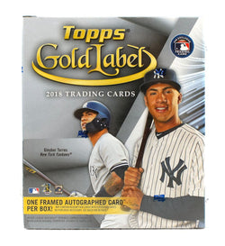 2018 Topps Gold Label Baseball Case