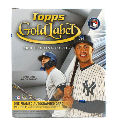2018 Topps Gold Label Baseball Box