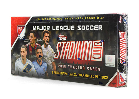 2018 Topps Stadium Club MLS Soccer Box