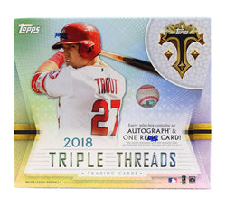 2018 Topps Triple Threads Baseball 18-box Case
