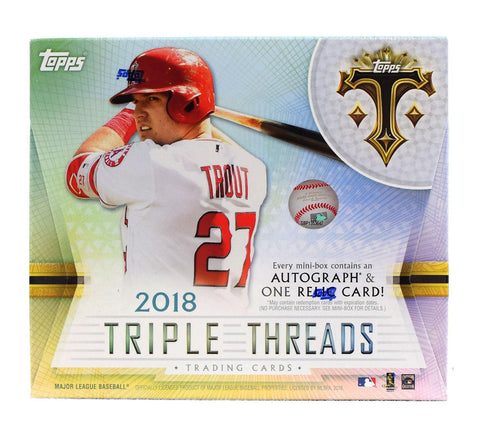 2018 Topps Triple Threads Baseball 9-box Case