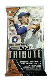 2018 Topps Tribute Baseball Pack