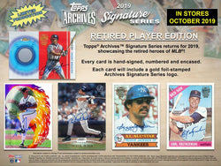 2019 Topps Archives Signatures Baseball RPE Box