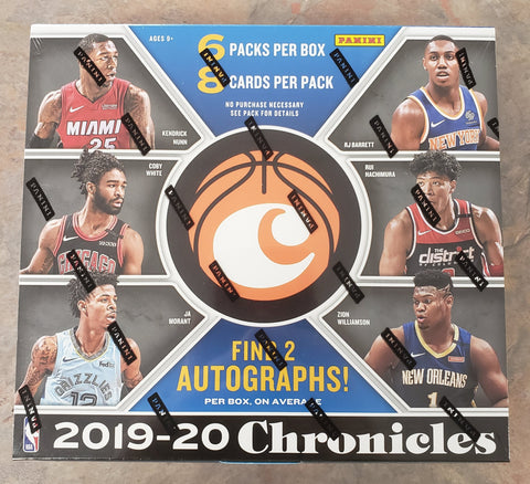 2019-20 Panini Chronicles Basketball Box