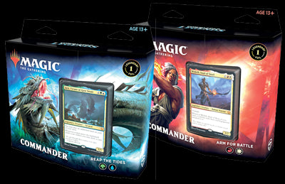 Magic The Gathering Commander Legends Commander Deck 2 Deck Set Reap The Tides & Arm For Battle