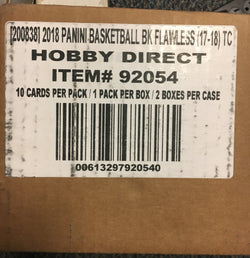 2017-18 Panini Flawless Basketball 2 Box Case