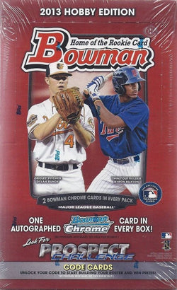 2013 Bowman Baseball Hobby Case
