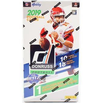 2019 Donruss Football Hobby 18-Box Case