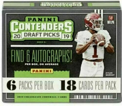 2019 Panini Contenders Draft Picks Football Box