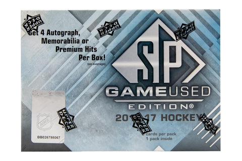 2016-17 Upper Deck SP Game Used Hockey Box