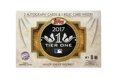 2017 Topps Tier One Baseball Box
