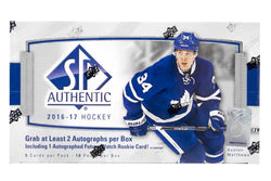 2016-17 Upper Deck SP Authentic Hockey Box