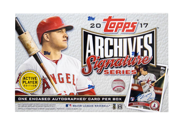 2018 Topps Archives Signature Series Active Player Edition Box