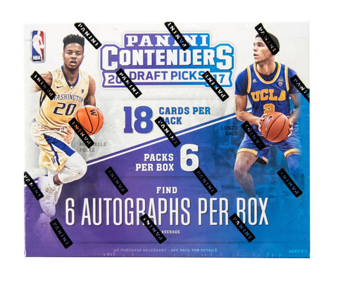 2017-18 Panini Contenders Draft Picks Basketball Box