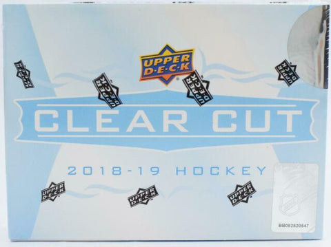 2018-19 Upper Deck Clear Cut Hockey Box