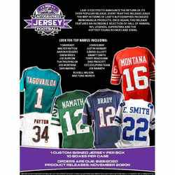 2020 Leaf Autographed Football Jersey Edition Box