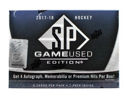 2017-18 Upper Deck SP Game Used Hockey Box