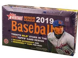 2019 Topps Heritage Minor League Baseball 12-Box Case