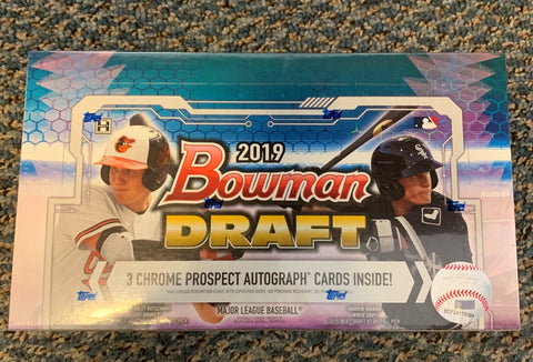 2019 Bowman Draft Baseball Hobby Jumbo Box