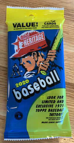 2020 Topps Heritage Baseball Fat Pack