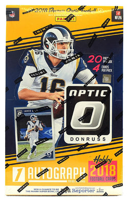 2018 Panini Donruss Optic Football Hobby Case