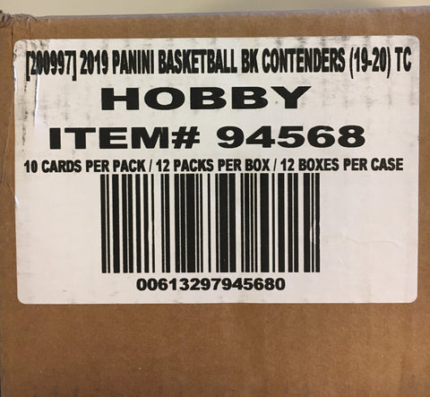 2019-20 Panini Contenders Basketball Hobby Case - 12 Box