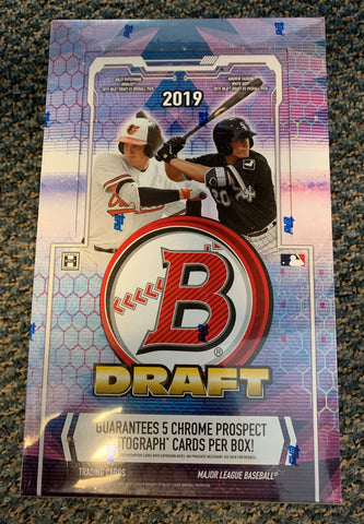 2019 Bowman Draft Baseball Hobby Super Jumbo 6-Box Case