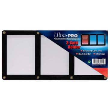 ULTRA PRO 3 CARD SCREW DOWN BLACK