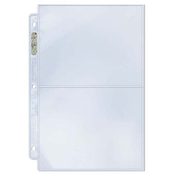 ULTRA PRO PLATINUM 2 POCKET PAGES Box (100)