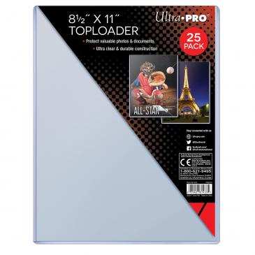 "ULTRA PRO 8.5x11"" TOP LOAD FLAT Pack (25)"