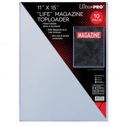 "ULTRA PRO 11X15"" LIFE MAGAZINE TOPLOAD Pack (10)"