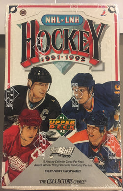 1991-92 Upper Deck Low Series Hockey Box