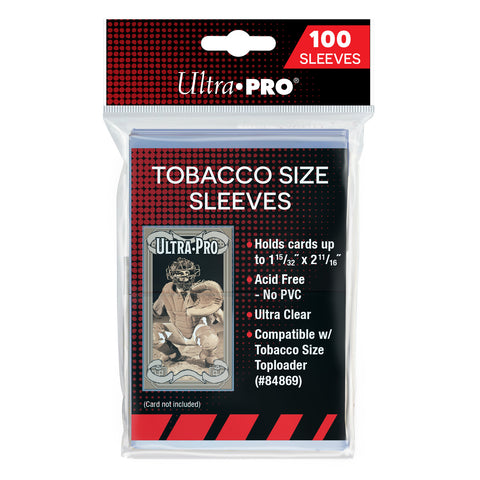 ULTRA PRO TOBACCO SIZE SLEEVES (100pk)