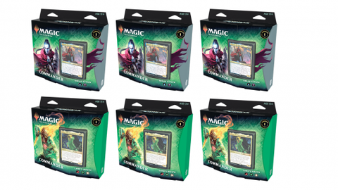 Magic The Gathering Zendikar Rising Commander Deck - 6 Deck Case Land's Wrath & Sneak Attack