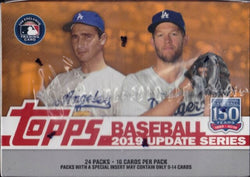 2019 Topps Update Baseball Retail 12-Box Case
