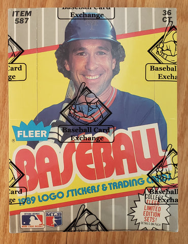1989 Fleer Baseball Early Run Wax Box (BBCE Wrapped FASC)
