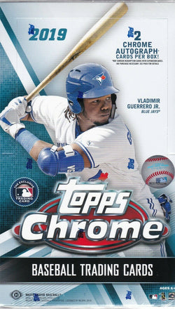 2019 Topps Chrome Baseball Hobby 12-Box Case