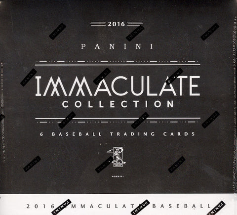 2016 Panini Immaculate Baseball Box