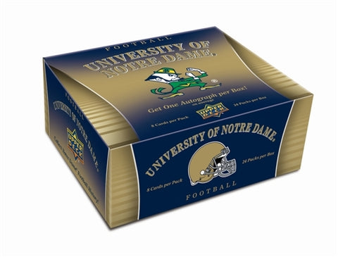 2013 Upper Deck Notre Dame Football Football Box