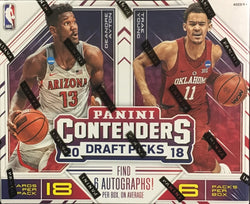 2018-19 Panini Contenders Draft Picks Basketball Pack