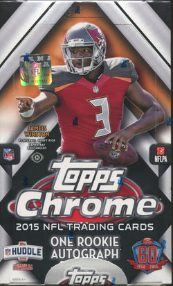 2015 Topps Chrome Football Box