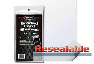 BCW GRADED CARD SLEEVES RESEALABLE BAGS Pack (100)