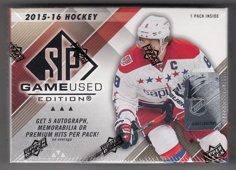 2015-16 Upper Deck SP Game Used Hockey Box