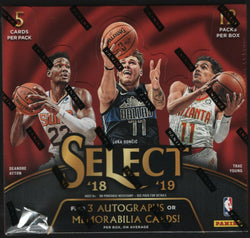 2018-19 Panini Select Basketball Hobby 12-Box Case